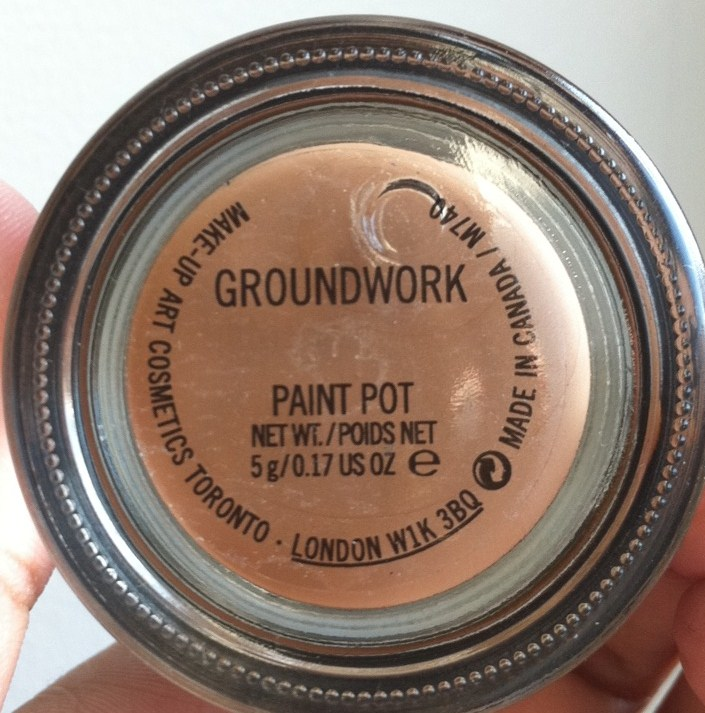 Mac groundwork paint pot the makeup train for Mac paint pot groundwork
