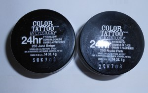 Maybelline Color Tattoo 24Hr Eyeshadows in Nude Pink and Just Beige