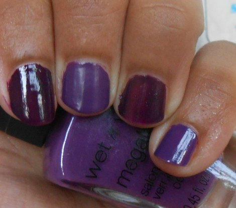 L-R: Sally Hansen CSM in Plum Luck, Careful, It's Vine-tage, Zoya Lael, OPI Funky Dunky